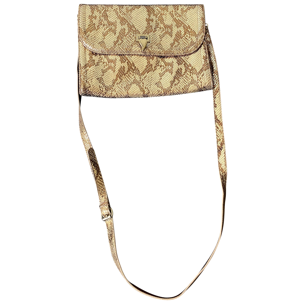 Lancaster \N Gold Leather handbag for Women \N