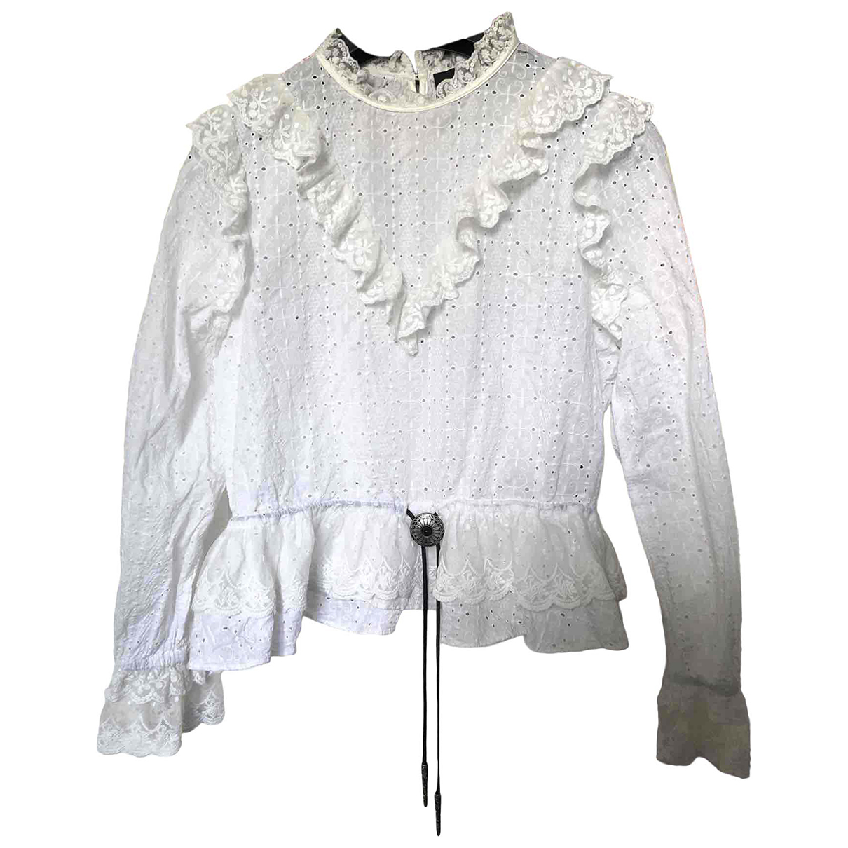 The Kooples Fall Winter 2019 White Cotton  top for Women 34 FR