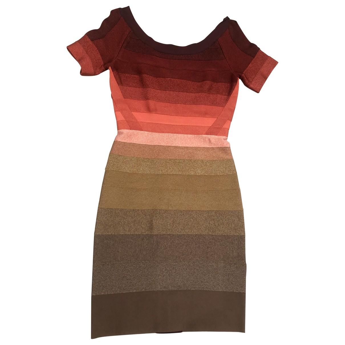 Herve Leger \N Kleid in  Bunt Viskose
