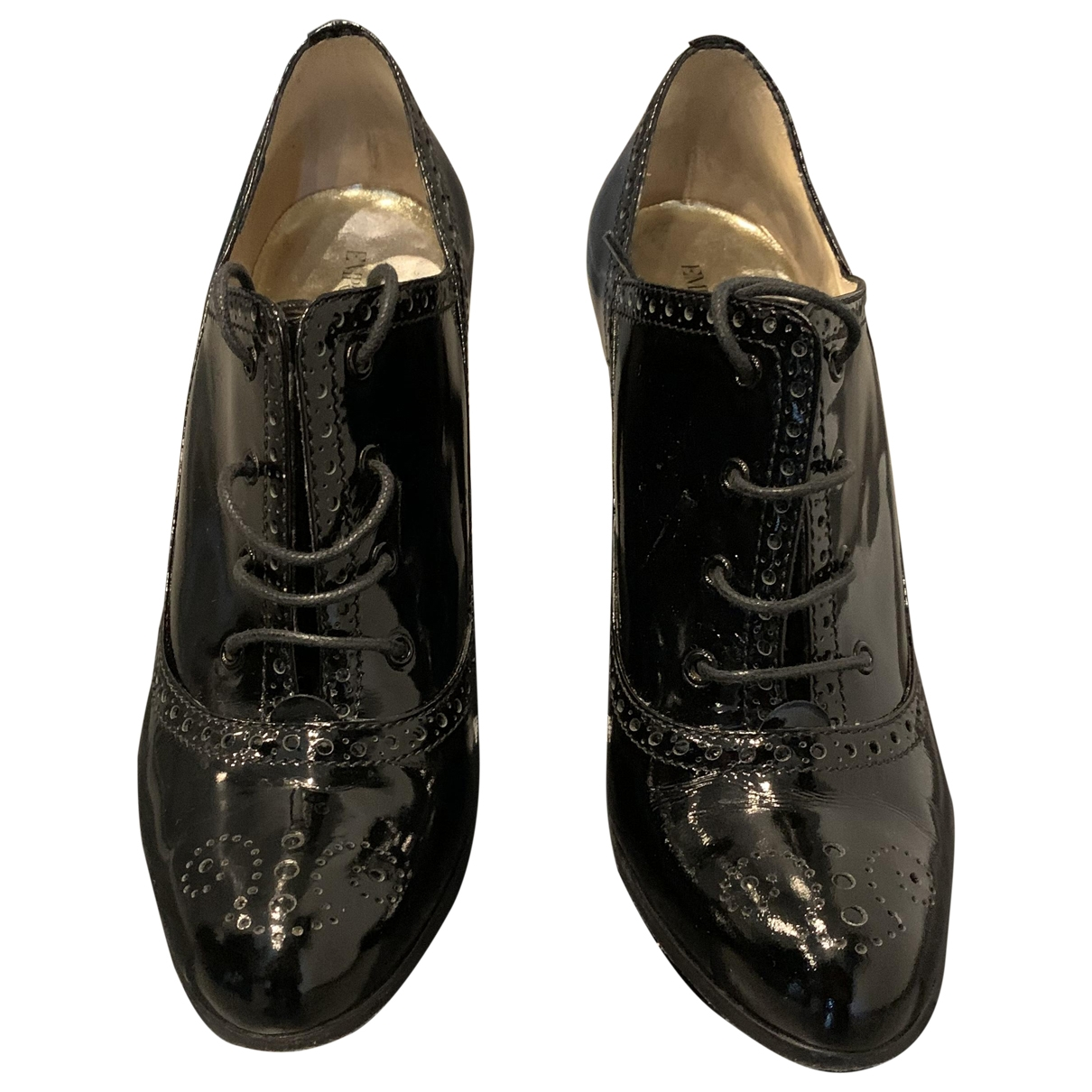 Emporio Armani \N Stiefeletten in  Schwarz Lackleder