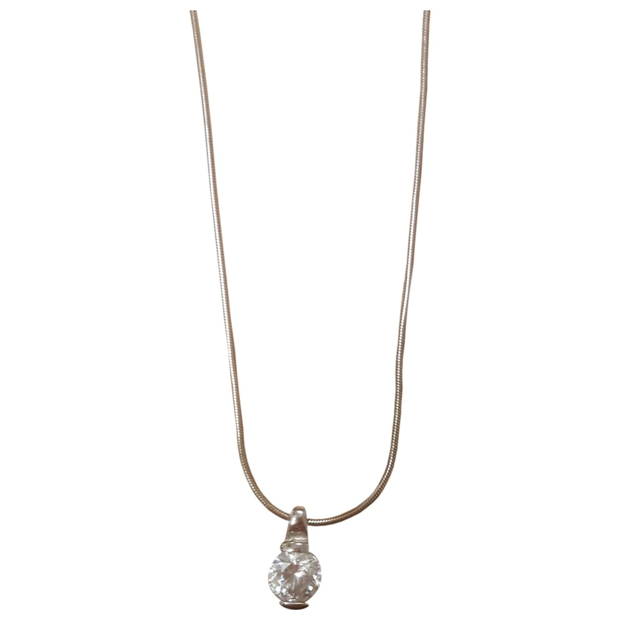 Non Signé / Unsigned Art Déco Silver Silver Long necklace for Women \N