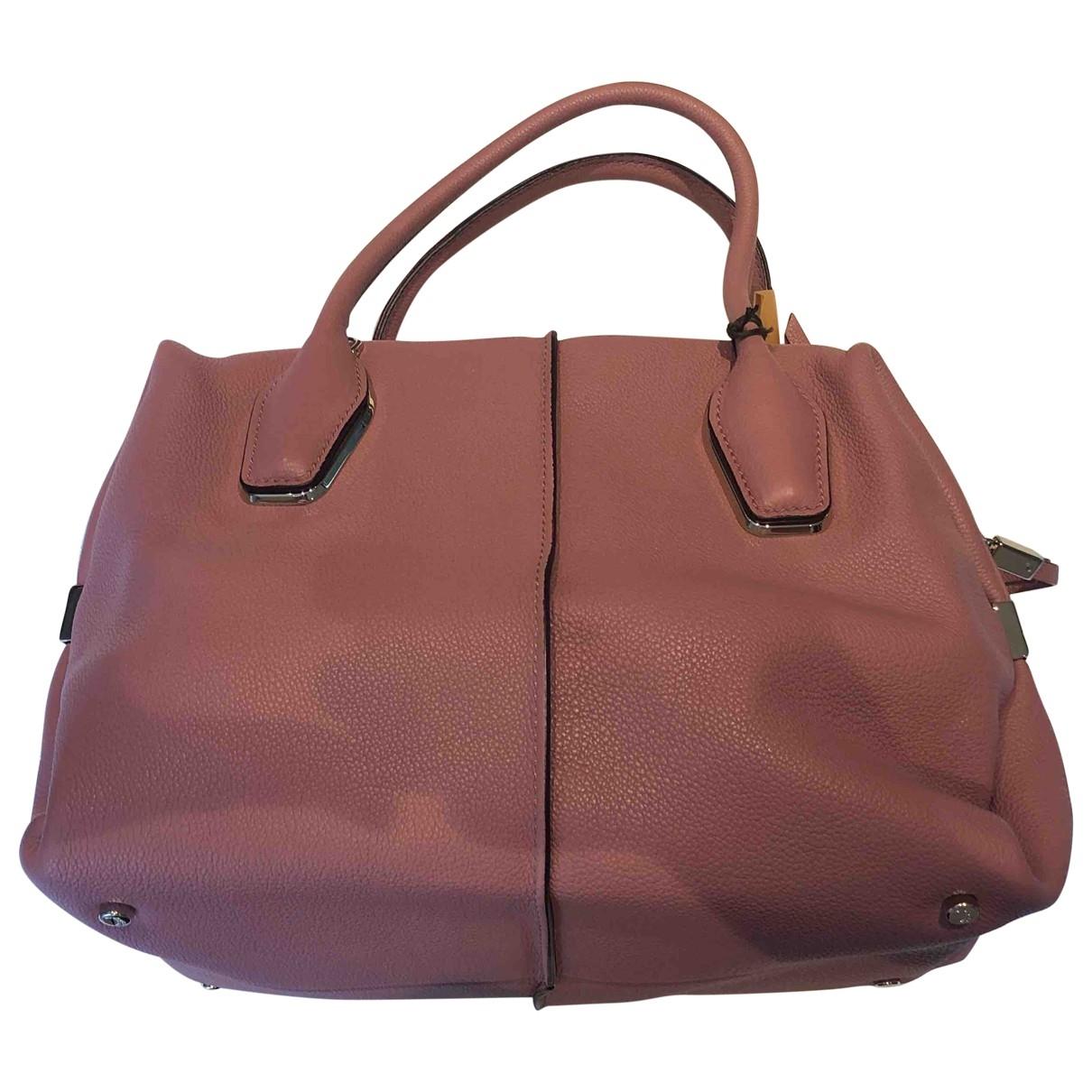 Tods \N Pink Leather handbag for Women \N