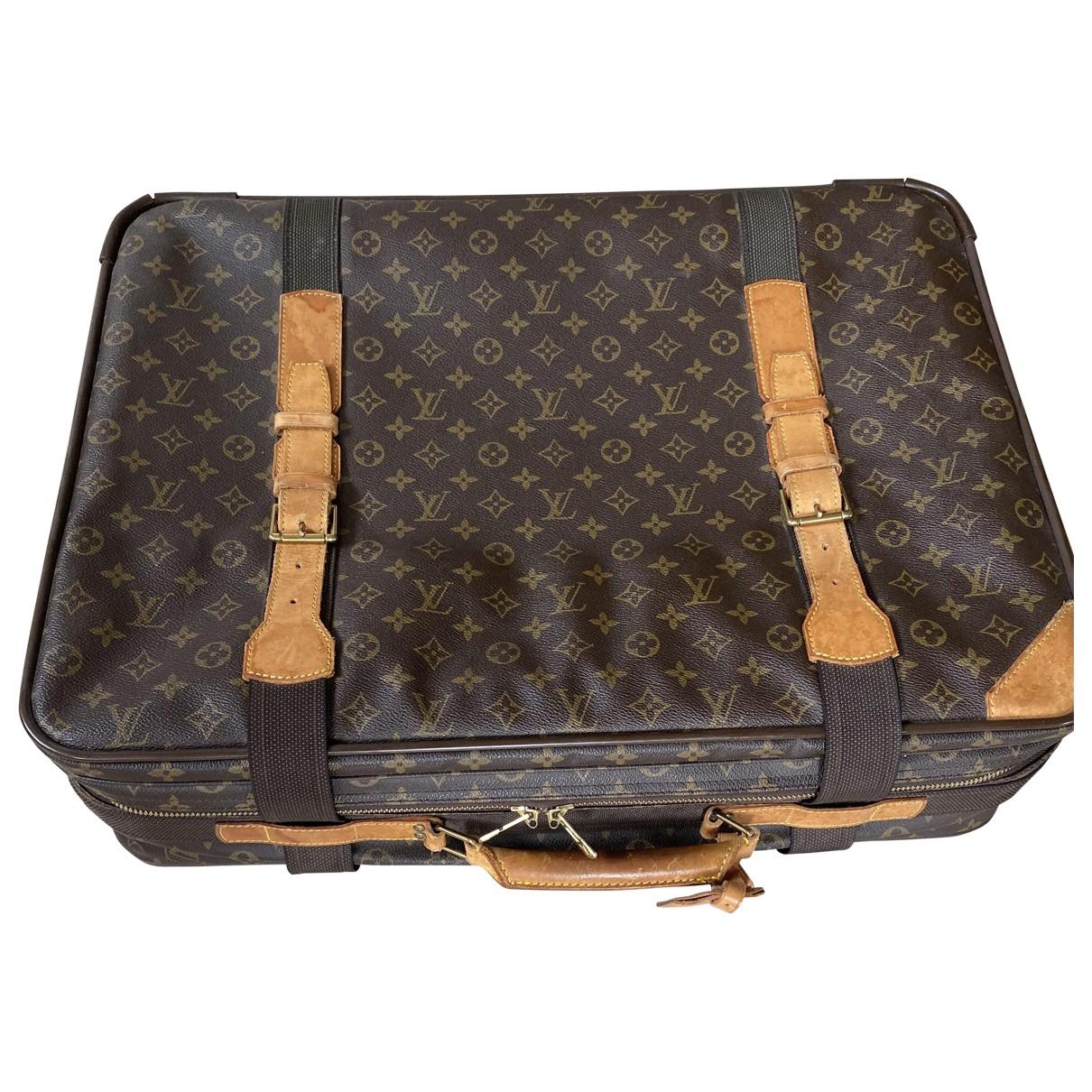 Louis Vuitton - Sac de voyage Satellite pour femme en toile - marron
