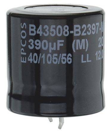 EPCOS 680μF Electrolytic Capacitor 450V dc, Snap-In - B43508A5687M000