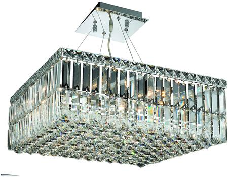 V2032D20C/RC 2032 Maxime Collection Chandelier L:20 In W:20In H:7.5In Lt:12 Chrome Finish (Royal Cut