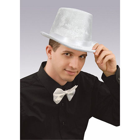 White Top Hat Dress Up Accessory, One Size , White