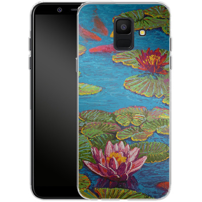Samsung Galaxy A6 Silikon Handyhuelle - Will Cormier - Six Koi in Lilly Pond von TATE and CO