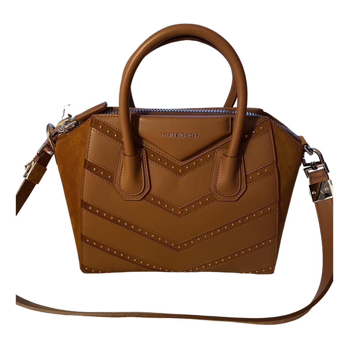 Givenchy Antigona Camel Suede handbag for Women N