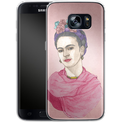 Samsung Galaxy S7 Silikon Handyhuelle - Frida von Barruf