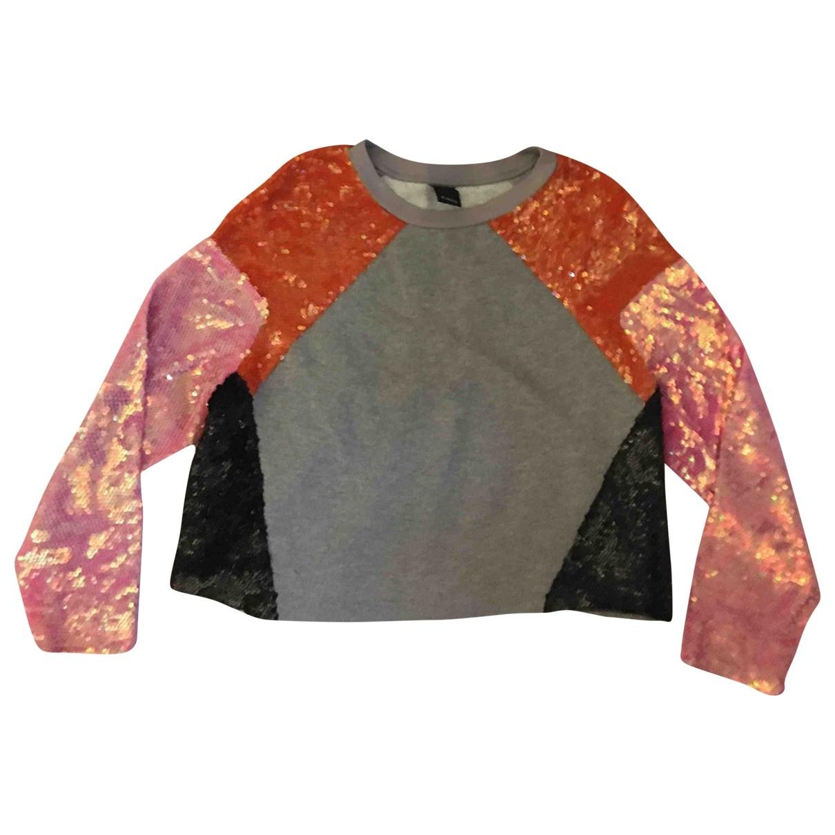 Pinko \N Pullover in  Grau Baumwolle