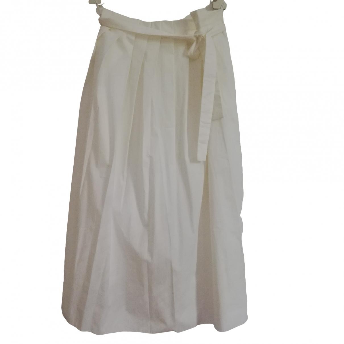 Fabiana Filippi - Jupe   pour femme en coton - elasthane - blanc