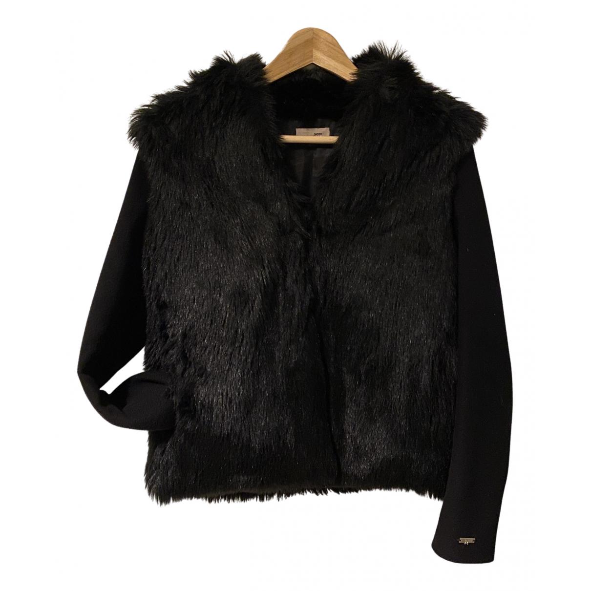 Twin Set N Black Faux fur jacket for Women S International