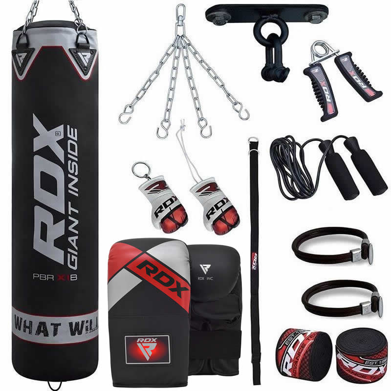 RDX X1B 13pc Punch Training Bag Filled 4ft Set with Gloves