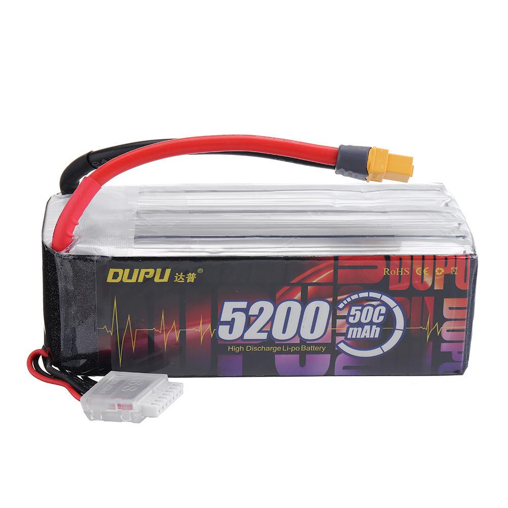 DUPU 22.2V 5200mAh 50C 6S Lipo Battery XT60 Plug for RC Helicopter Quadcopter Car