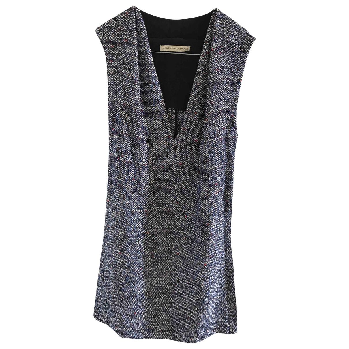 Balenciaga \N Kleid in  Blau Tweed