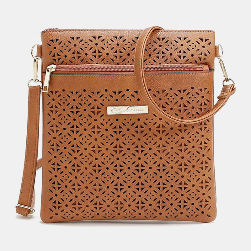 Women Casual Hollow Out Phone Bag Solid Shopping Crossbody Bag