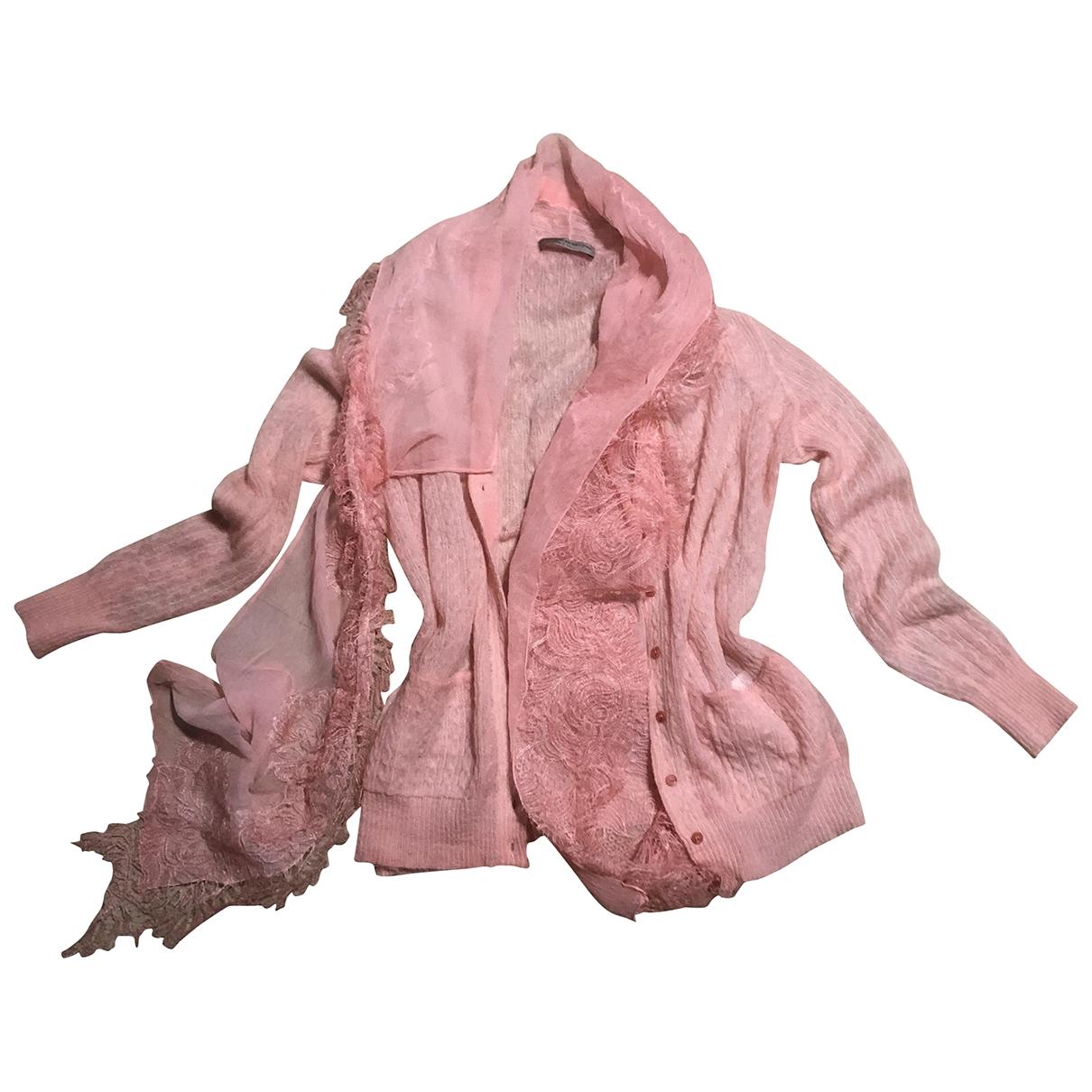 Ermanno Scervino - Pull   pour femme en laine - rose