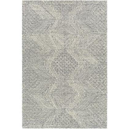 Maroc MAR-2319 8' x 10' Rectangle Global Rug in Teal  Charcoal