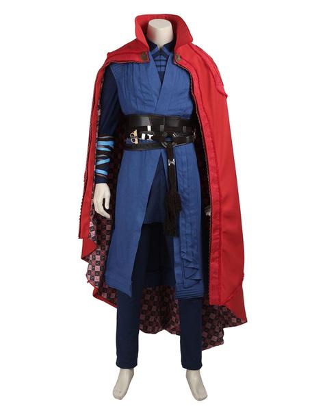Milanoo Marvel Comics Marvel Movie Doctor Strange Character Stephen Strange Cotton PU Cosplay Set In 5 Piece