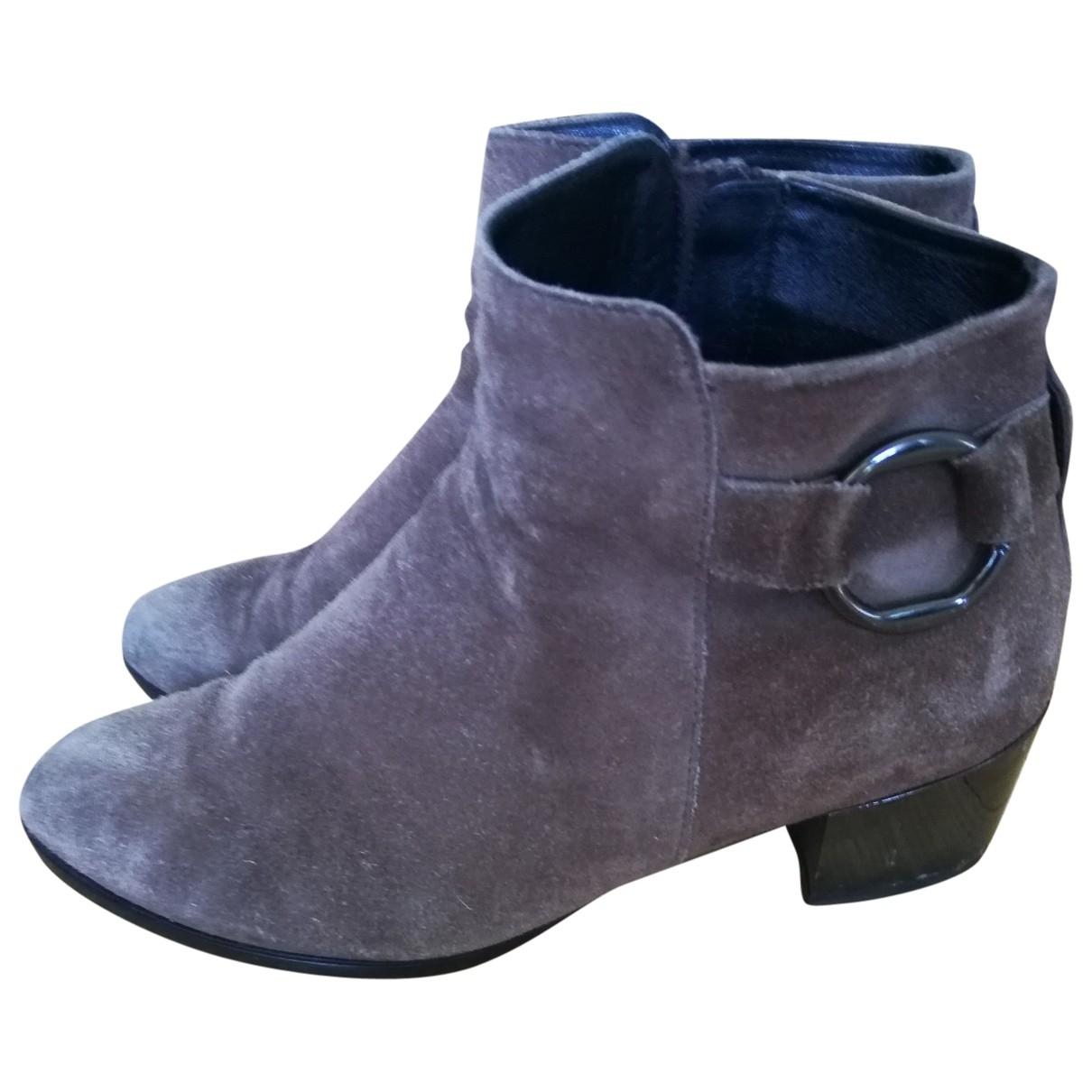 Hogan - Boots   pour femme en cuir