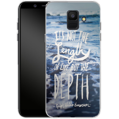 Samsung Galaxy A6 Silikon Handyhuelle - Depth von Leah Flores