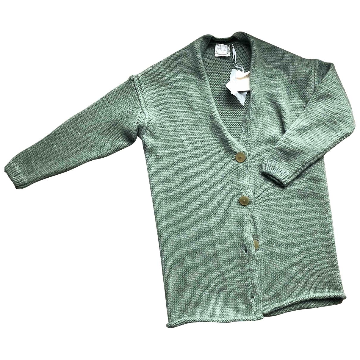 Forte_forte \N Pullover in  Gruen Wolle