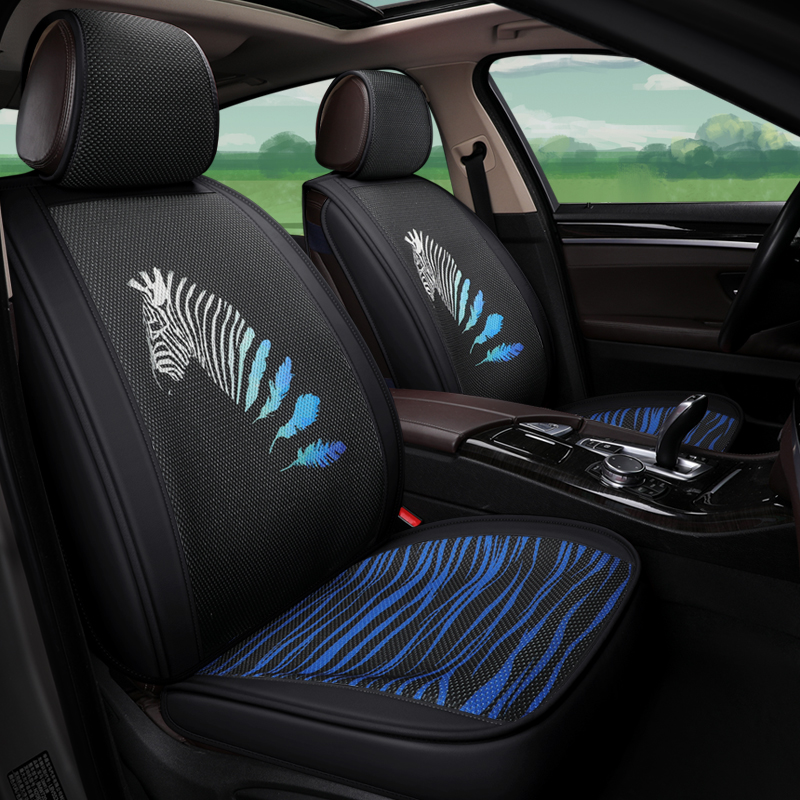 Zebra Pattern Comfortable Good Wrapping Universal Car Seat Covers