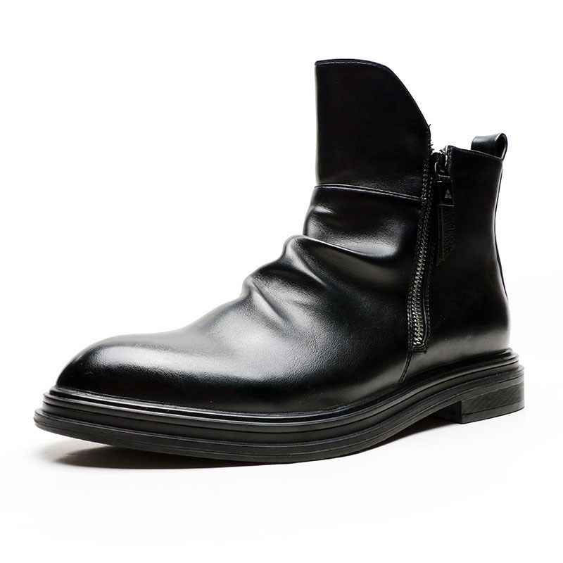Ericdress Plain Side Zipper Pointed Toe Men's Boots