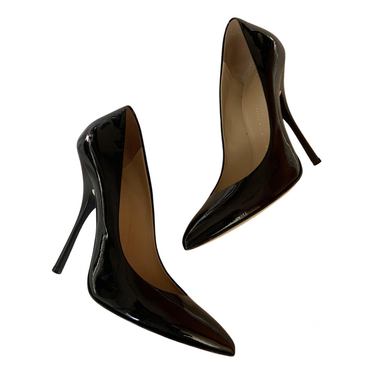 Giuseppe Zanotti N Black Leather Heels for Women 40 IT