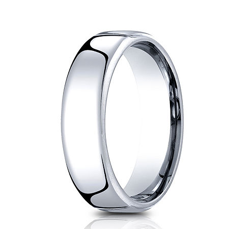 Mens Comfort Fit 6.5mm Polished Cobalt Wedding Band, 12 1/2 , No Color Family