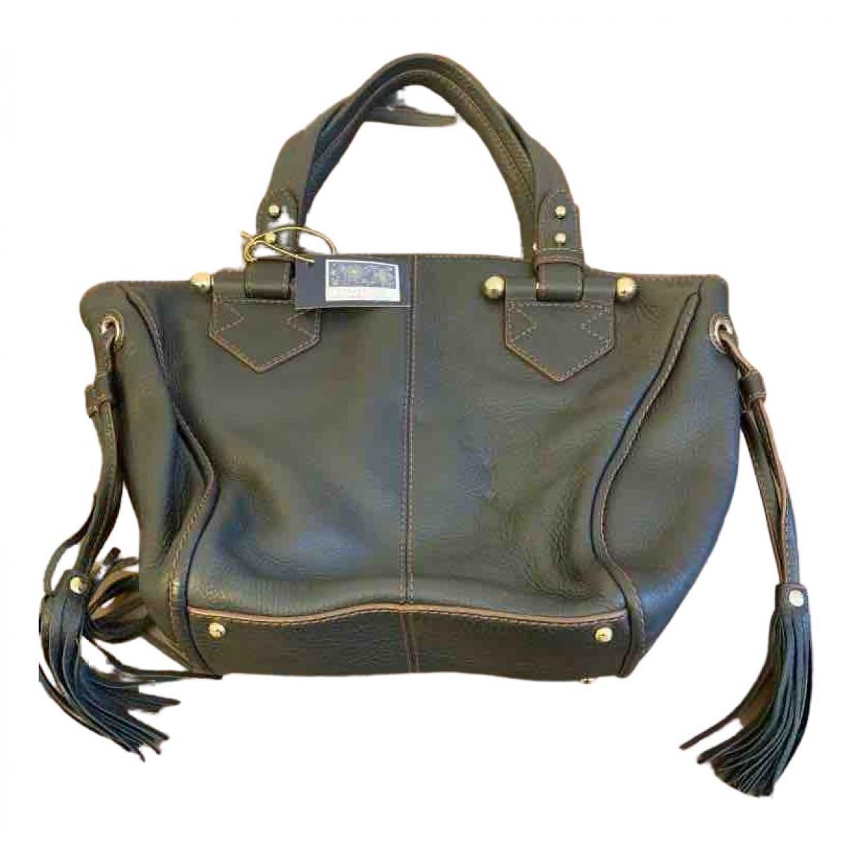 Lancel \N Handtasche in  Schwarz Leder