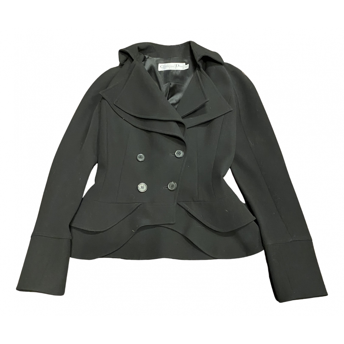 Dior N Black Wool jacket for Women 36 FR