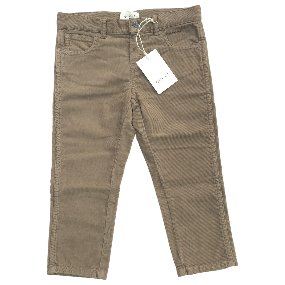 Gucci N Brown Velvet Trousers for Kids 3 years - up to 98cm FR