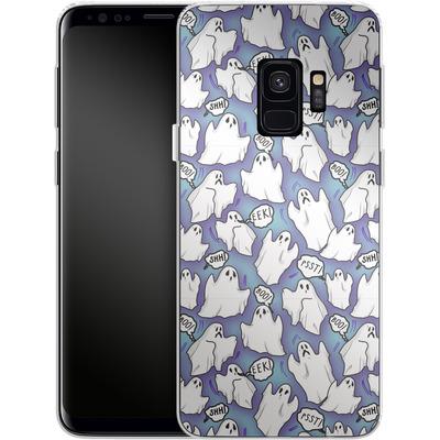 Samsung Galaxy S9 Silikon Handyhuelle - Ghost Pattern von caseable Designs