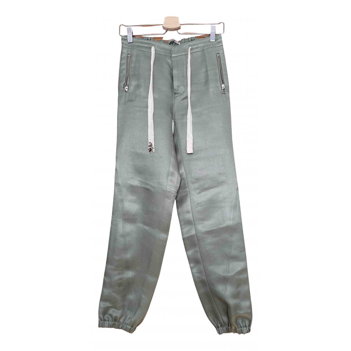 Ermanno Scervino \N Green Linen Trousers for Women M International