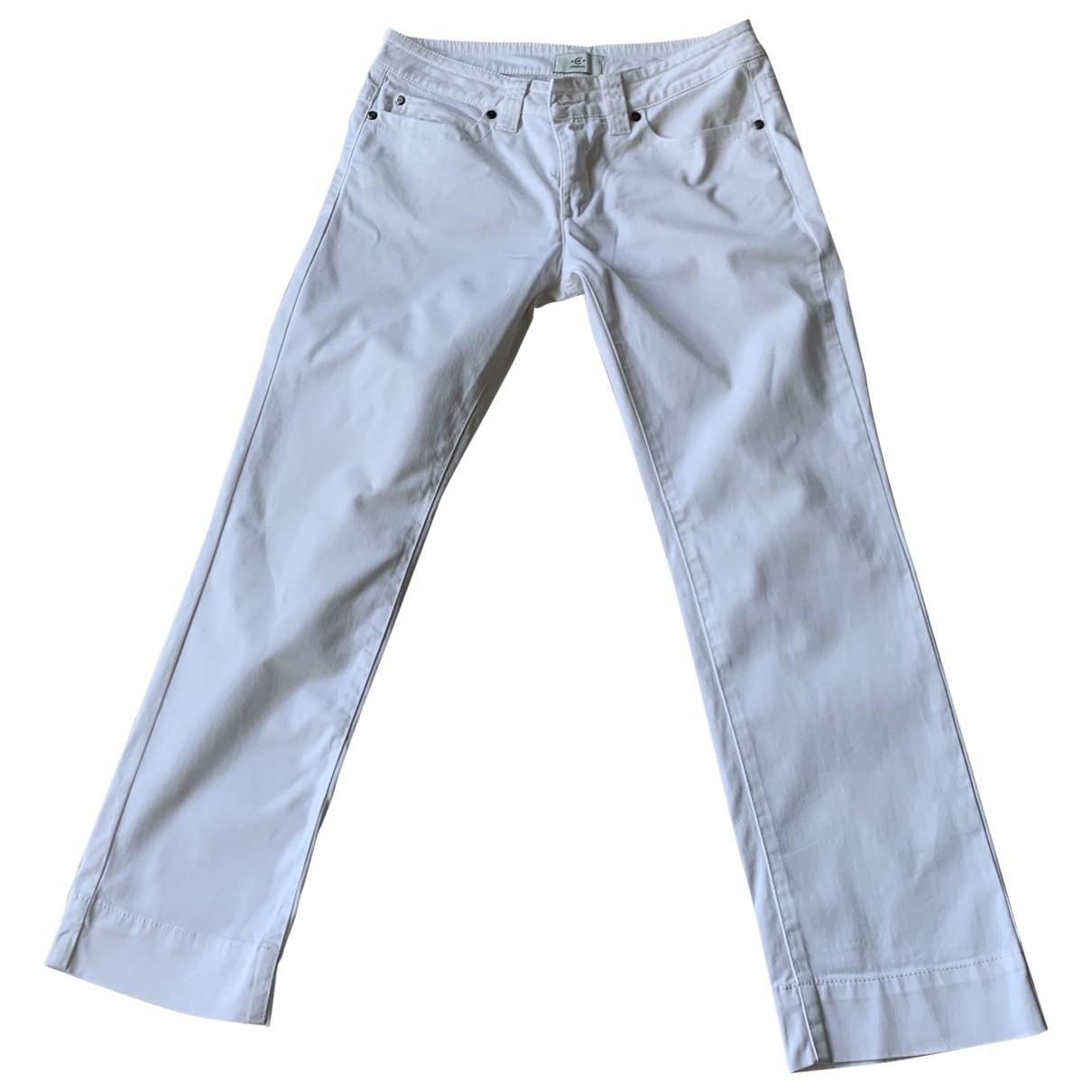 Cerruti \N Ecru Cotton Trousers for Women 40 FR