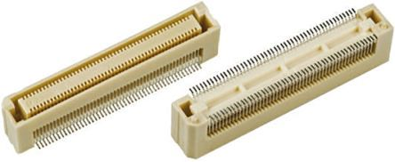 Hirose , FunctionMAX FX8C 0.6mm Pitch 60 Way 2 Row Straight PCB Socket, Surface Mount, Solder Termination