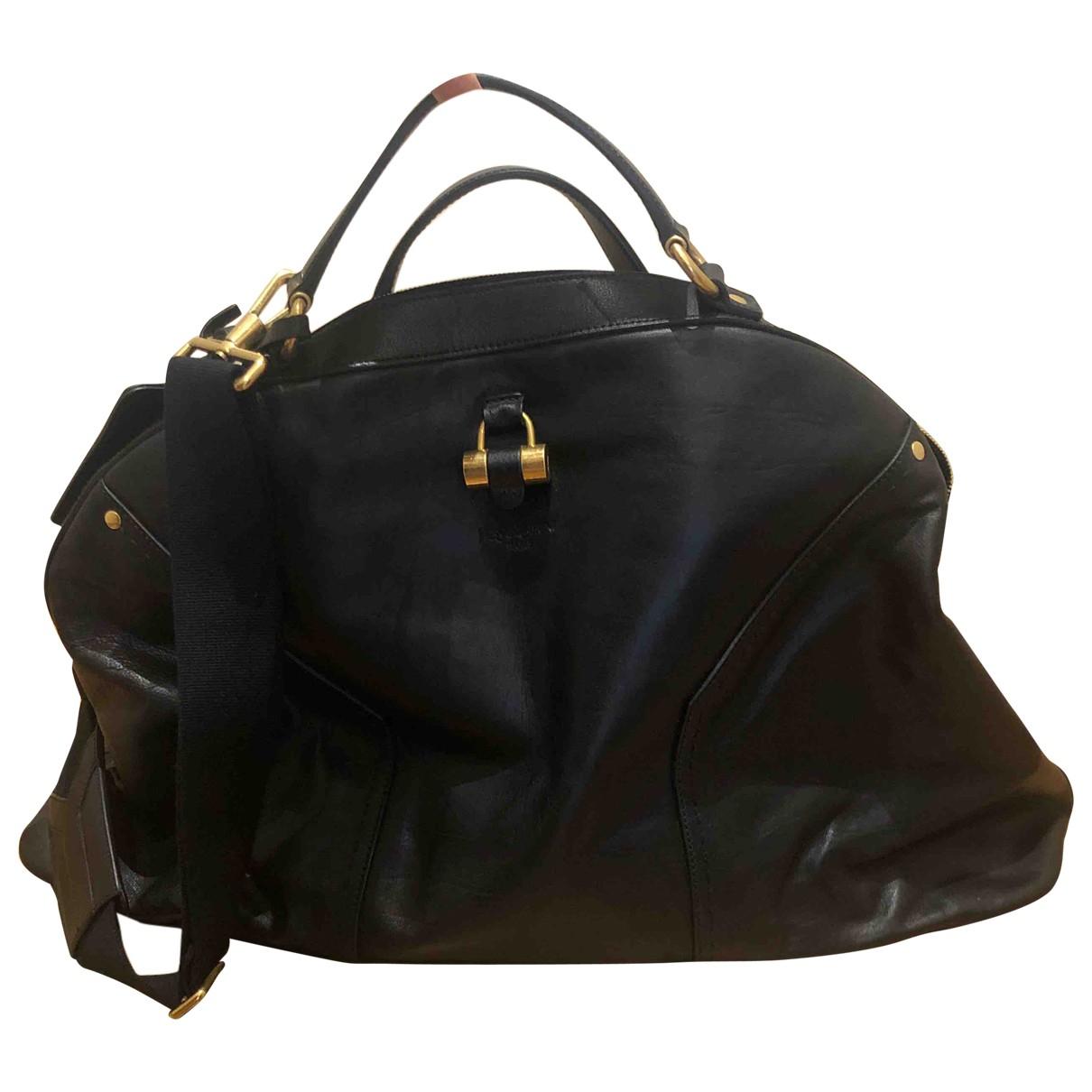 Yves Saint Laurent \N Black Leather bag for Men \N