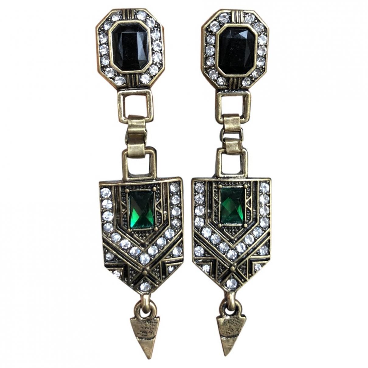 Non Signé / Unsigned \N Multicolour Steel Earrings for Women \N