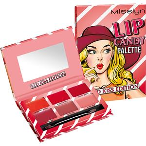 Misslyn Lip Gloss Lip Candy Palette No. 1 Red Kiss 13,34 g