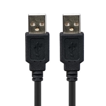 USB 2.0 A Male to A Male 28/24AWG Cable (Gold Plated) - Black - PrimeCables® - 1.5ft