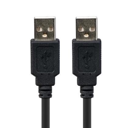 Câble USB 2.0 A Mâle vers A Mâle 28 / 24AWG (plaqué or) - noir - PrimeCables® - 1,5pi