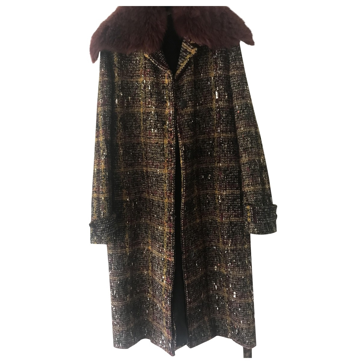 Bottega Veneta \N Multicolour Wool coat for Women 36 IT