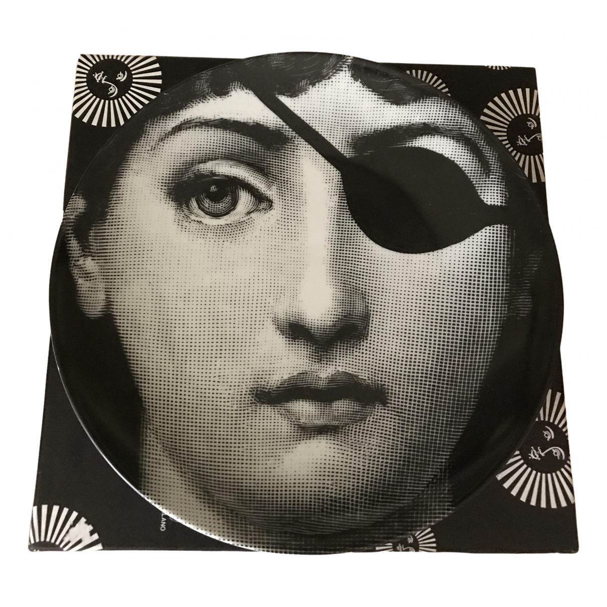 Fornasetti \N Accessoires und Dekoration in  Schwarz Keramik