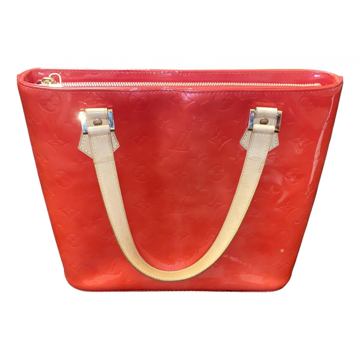 Louis Vuitton - Sac a main Houston pour femme en cuir verni - rouge