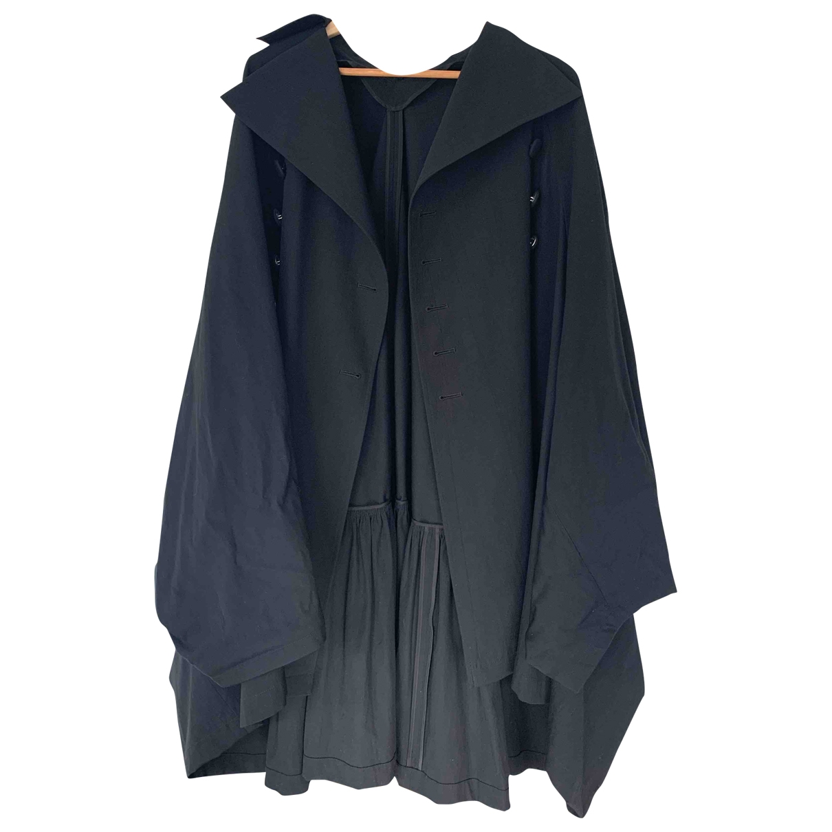 Yohji Yamamoto \N Black Wool coat for Women S International