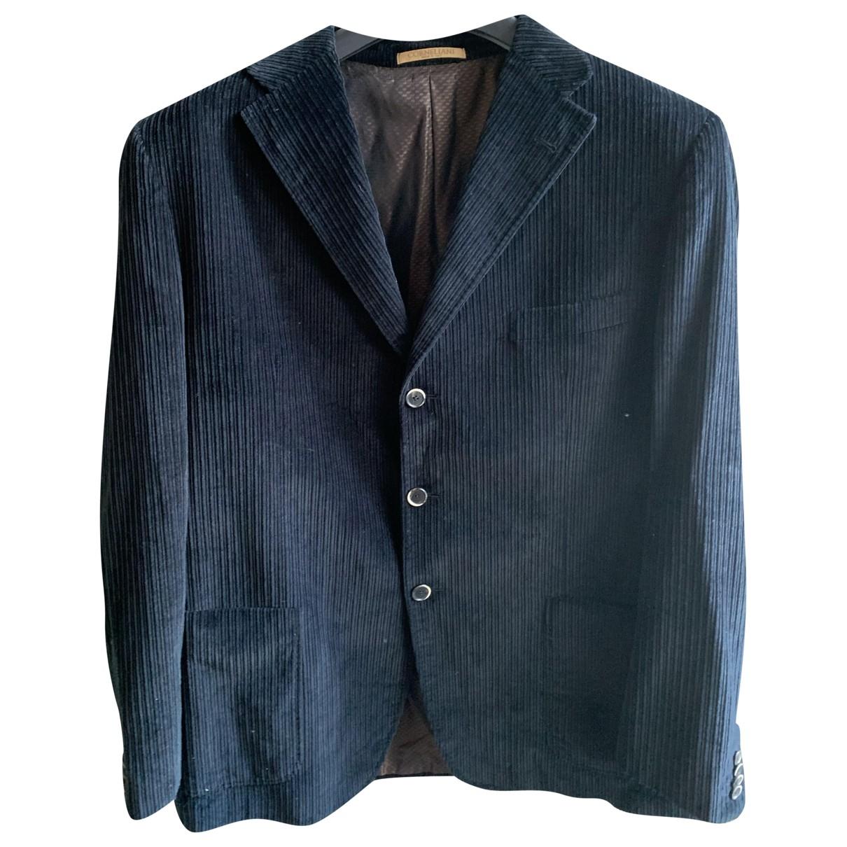 Corneliani - Vestes.Blousons   pour homme en velours - bleu