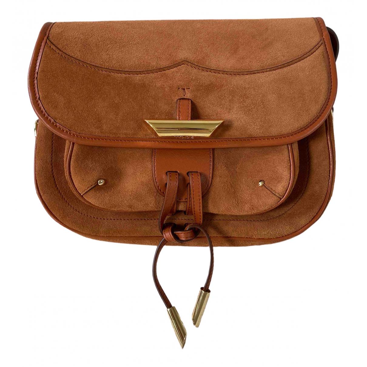 Tods \N Handtasche in  Braun Veloursleder