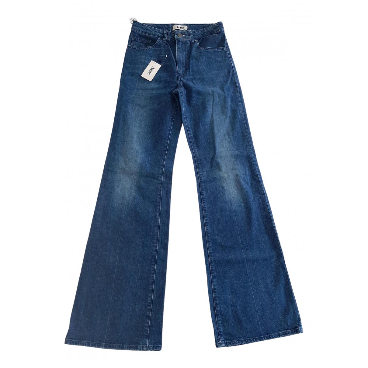 Acne Studios \N Blue Cotton - elasthane Jeans for Women 29 US