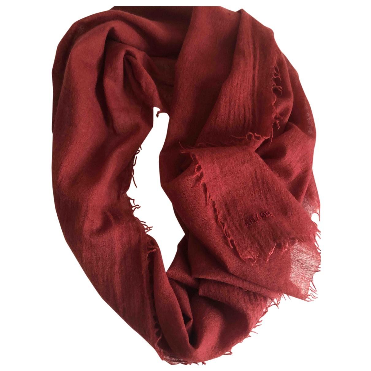 Prada - Foulard   pour femme en coton - bordeaux